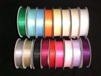 Double sided satin ribbon 3mm,6mm,10mm,15mm,23mm,38mm various colours/ weddings