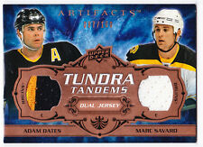 2008/09 Artifacts ADAM OATES & MARC SAVARD Tundra Tandems Jersey 87/100!