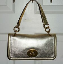 NEW COACH 65th ANNIVERSARY LEGACY STRIPE EVENING BAG VERY RARE PLATINUM LEATHER!