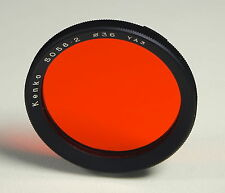 Kenko 36mm S0 56·2 YA3 Orange Filter colored filtro Einschraub Screw In - 203144