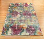 MAUVE GREEN Art Deco Style Multi Coloured Abstract Modern Rug 160x230cm 50%OFF
