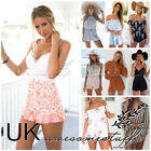 UK Womens Celeb Sexy Mini Playsuit Ladies Jumpsuit Shorts Summer Beach Sun Dress