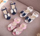 New cute toddler girls sandals little kids princess summer flats shoes size 5-11