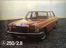 Mercedes Benz 250 2.8 W114 1972 Original UK Foldout colour card Sales Brochure