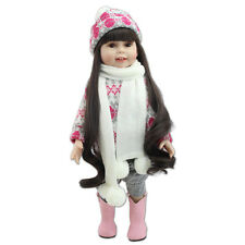"18"" Lifelike Realistic Silicone Vinyl For American Girl Doll & Clothes Kids Toy"