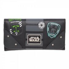 OFFICIAL STAR WARS ROGUE ONE - EMPIRE SYMBOLS BLACK FLAP PURSE/ WALLET (NEW)