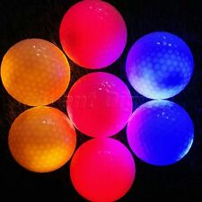 New 4pcs LED Flashing Golf Balls Night Light Glow Tracker Outdoor Sports Golfing