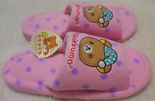 Rilakkuma Slippers  stay up late night Pink  with Tags Super Rare