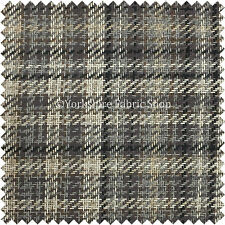 New Designer Geometric Tartan Checked Pattern Chenille Upholstery Curtain Fabric