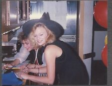 Vintage Color Photo Pretty Girl in Witch Halloween Costume 259835