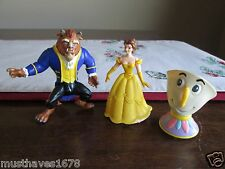 Burger King LOT 3 Beauty & Beast Chip Meal TOY  Disney's   LOOSE