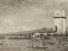 CANALETTO ITALIANO la Torre di Malghera Vecchia Pittura Arte Poster Stampa bb5054a