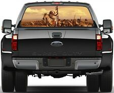 Indians soldiers, Horses Version 1 Painting Rear Window Graphic Decal Truck SUV