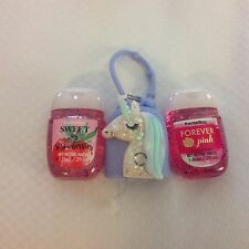 Bath & Body Works  2 x Hand Sanitizer Anti-Bac Gel Light Up Unicorn Holder Two