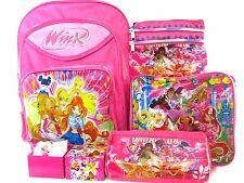 BTS Winx Club compose backpack school Bag watch lunch shoulder bag & pencil box
