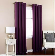2 SILK BLACKOUT  WINDOW CURTAIN GROMMET PANEL HEAVY THICK  PRIVACY SAVING ENERGY