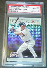 1999 SKYBOX THUNDER DEREK JETER #5 WWW.BATTERZ.COM PSA GEM 10  LOW POP 12