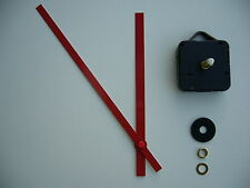 HIGH TORQUE CLOCK MOVEMENT LONG SPINDLE 200MM RED BATON METAL HANDS