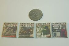 1/12 Scale Newspapers New York Bulletin 4 Pack for Daredevil and Avengers Marvel