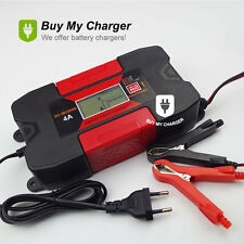 New 12V 4A Gel/Lead-Acid/Maintenance-free Battery Charger w/ LCD Display 2017