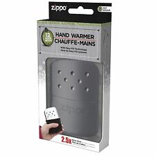 Black Zippo Refillable Deluxe Hand Warmer with Fill Cup & Warming Bag