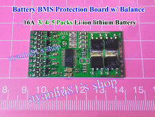 16A Battery BMS Protection Board w/ Balance 3/ 4/ 5 Packs Li-ion lithium Battery