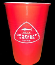 Compleat Angler's Red Solo Cup, re-useable hard plastic, NEW
