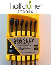 Stanley Black Chrome 6 Pc Combination Wrench Set MM