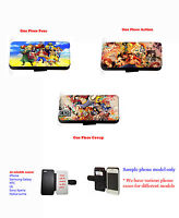One Piece Cartoons Anime leather wallet phone case iPhone 4,4s,5,5s,5c,6,6 plus