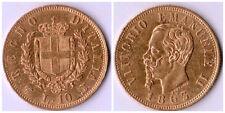 REGNO D'ITALIA 10 LIRE 1863 TORINO VITTORIO EMANUELE II ORO GOLD OR