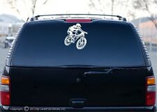 mountain biking xc downhill Car window decal sticker