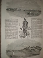 Sketches in Burma Prome Soldier and Yenbenzeik 1852 old prints my ref S