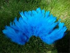 """3 PACKAGES of 3"""" to 5"""" BRIGHT TURQUOISE SCHLAPPEN FEATHERS - BUY MORE, SAVE MORE"""