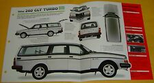 1981 82 1984 1983 Volvo 240 GLT Turbo 127 hp 2127cc FI IMP Info/Specs/photo 15x9