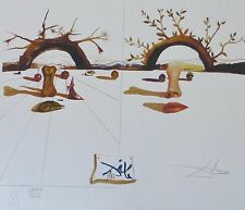 SALVADOR DALI Patient Lovers HAND NUMBERED PLATE SIGNED LITHOGRAPH