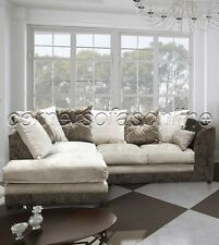 BELLA BROWN & MINK LEFT HAND CORNER SOFA