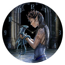 Anne Stokes Water Dragon Wall Clock Gothic Fantasy Decor Gift Battery Operated