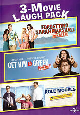 3-Movie Laugh Pack: Forgetting Sarah Marshall/Greek/Role (DVD) wild adult comedy