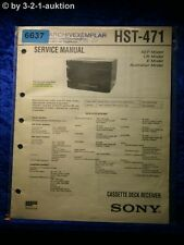 Sony Service Manual HST 471 Cassette Receiver (#6637)
