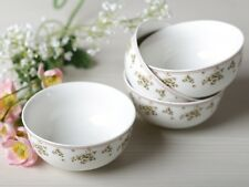 Set of 4 KATIE ALICE Cottage Flower SHABBY CHIC Cereal Bowls VINTAGE INSPIRED