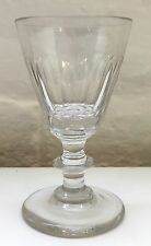 Antique Georgian / Victorian Wine Sherry Glass - Cut Facet Sides