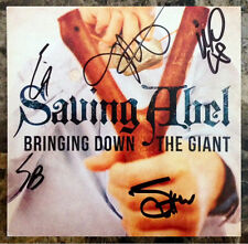 SAVING ABEL Bringing Down The Giant Ltd Ed RARE Hand Signed By All 5 CD Booklet