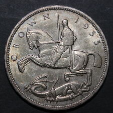 Great Britain Uk 1935 Silver Crown George V Rocking Horse Unc (3131800Z28)