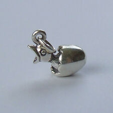 CHICK IN EGG HATCHING BIRD 3D CHARMS CHARM 925 STERLING SILVER