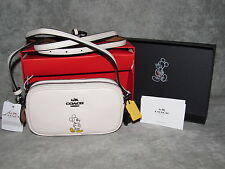 COACH Crossbody Purse~Disney Mickey Mouse~White/Chalk Leather~NWT NIB #56268B