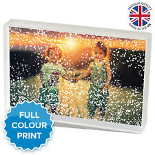 "Personalised Acrylic Photo Winter Snow Block Picture Gift Present | 6 x 4"" Inch"