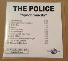 The Police - Sychronicity 11 Trk UK Acetate Promo Cd Ultra Rare Sting 2003