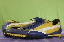 Puma Driving Shoes Sneakers Yellow Blue White Mens Sz 14 UK 13 Black 340392 04