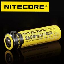 NiteCore 4x NL186 2600mAh Protected 3.7v 18650 Rechargeable Li-ion Battery