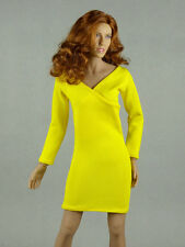 1/6 Phicen, Hot Toys, Hot Stuff, ZC, Kumik, Vogue Female V-Neck Yellow Dress